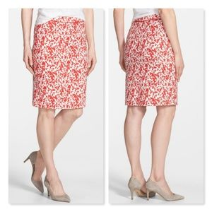 NWT Halogen Piped Print Pencil Skirt